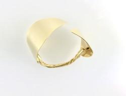 - Metal Yapraklı Antik Tasarım Bileklik - Gold Kaplama