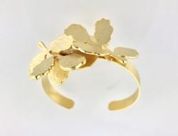 - Yaprak Figürlü Tasarım Bileklik - Gold Kaplama
