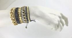 Çok Sıralı Bileklik Seti - Gold Kaplama - Thumbnail