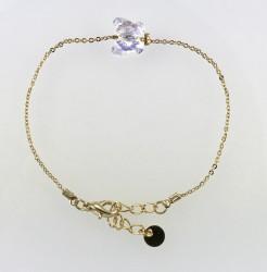 - Swarovski Kristal AB Kelebek Taşlı Bileklik - Gold Kaplama