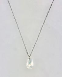- Swarovski Kristal AB Taşlı Kolye - Rhodium Kaplama