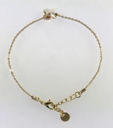 - Swarovski Kristal Lt.Colorado Topaz Kelebek Taşlı Bileklik - Gold Kaplama