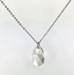 - Swarovski Kristal (Nature) Taşlı Kolye - Rhodium Kaplama