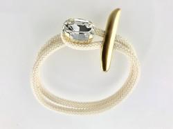 - Swarovski Kristal Taşlı Bileklik - Gold Kaplama