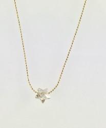 - Swarovski Kristal Yıldız Taşlı Zarif Kolye - Gold Kaplama