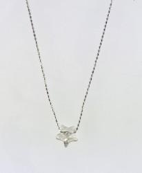 - Swarovski Kristal Yıldız Taşlı Zarif Kolye - Rhodium Kaplama