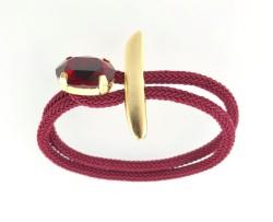 - Swarovski Kristal D.Siam Taşlı Bileklik - Gold Kaplama