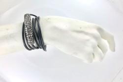 Hematit Kristal Taşlı Kolye & Bileklik - Gold Kaplama - Thumbnail