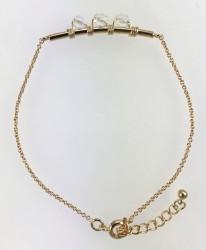 - Swarovski Kristal (Bulk Nature) Taşlı Tel Sarma Bileklik - Gold Kaplama