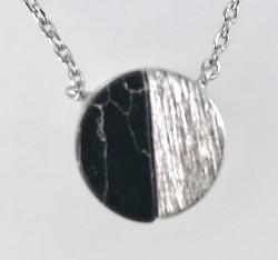 Oniks Taşlı Gümüş Kolye - Thumbnail